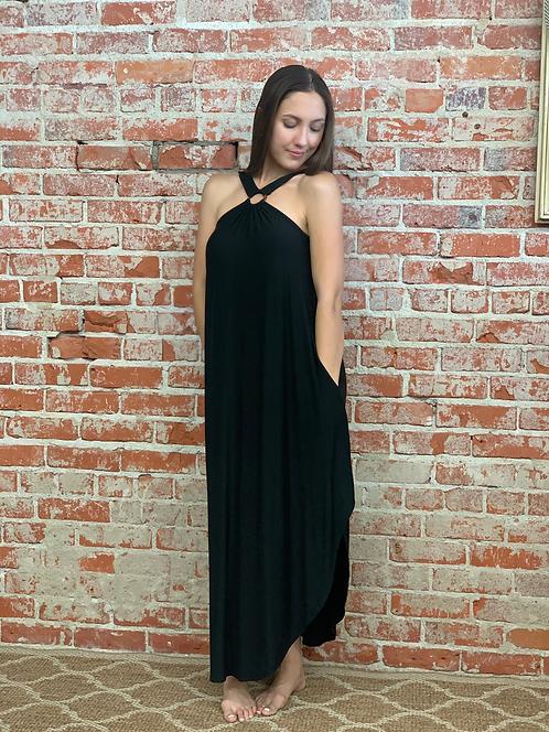 O-ring maxi dress