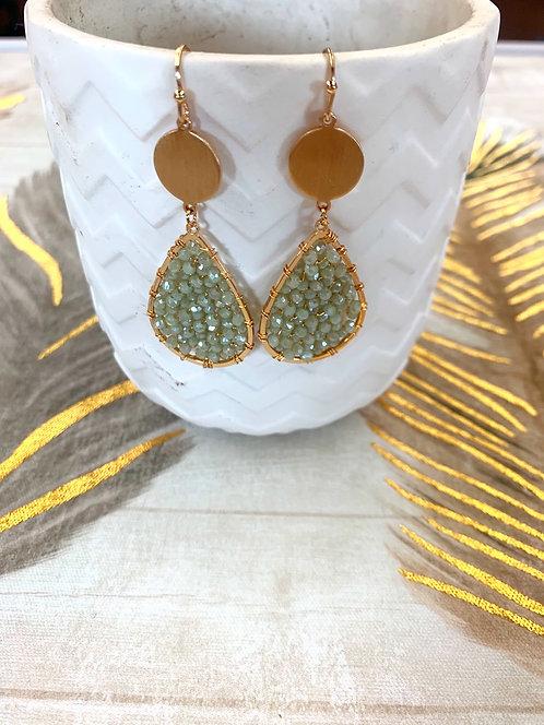 seedbead teardrop earrings