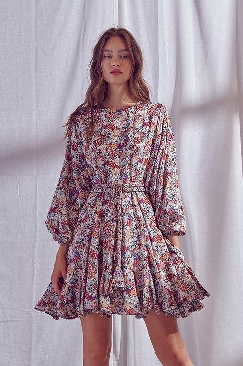 garden floral mini dress