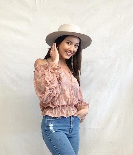 OTS paisley blouse