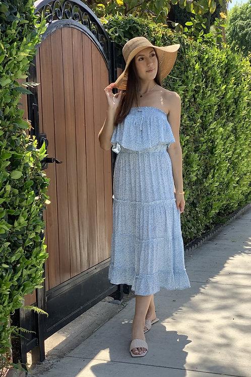 blue eyed daisy midi dress