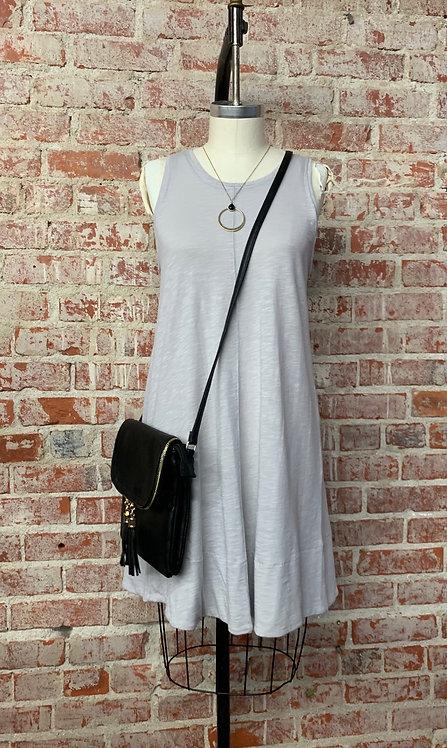 slub aline mini dress