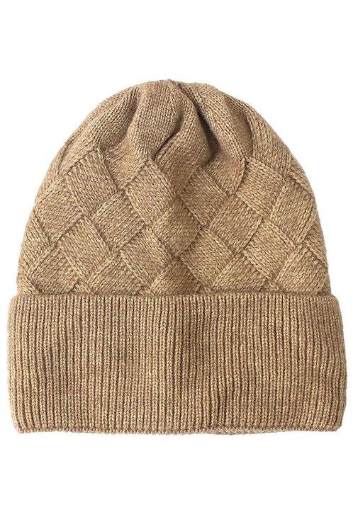 basket weave beanie