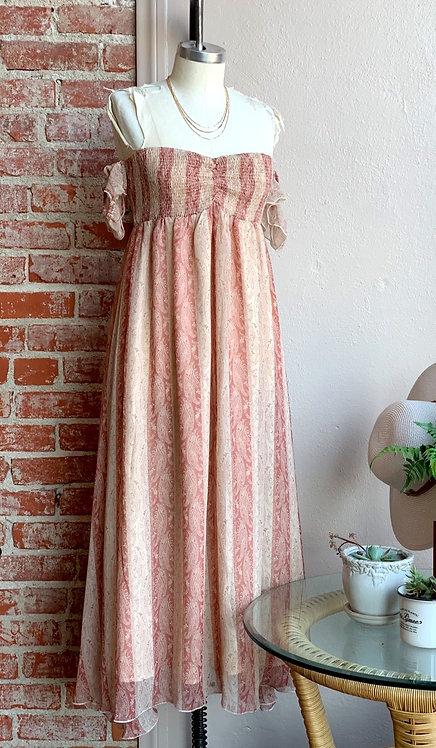 Ots romantic midi dress