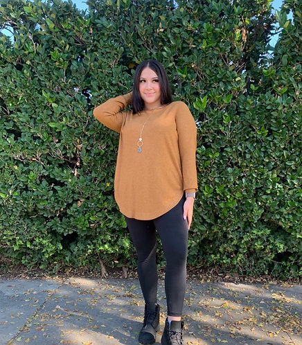 Rounded hemline sweater