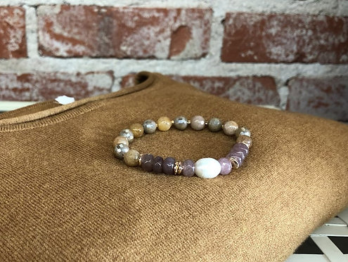 multi bead with pearl bracelet