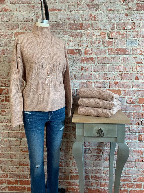 boxy cable sweater