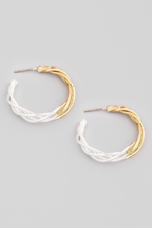 two tone hoops