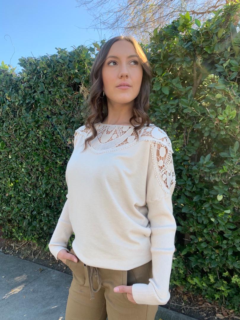 applique sweater