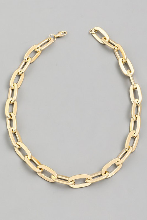 flat chain link necklace