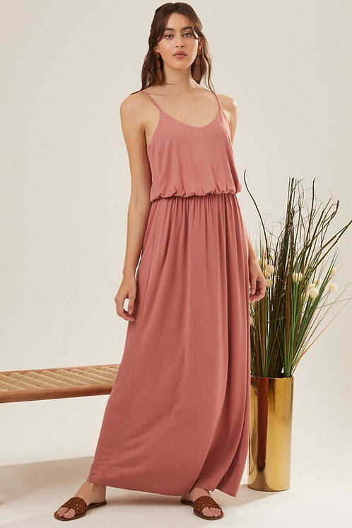 jersey banded maxi dress