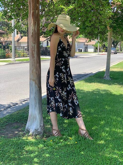 Flower vine  midi dress
