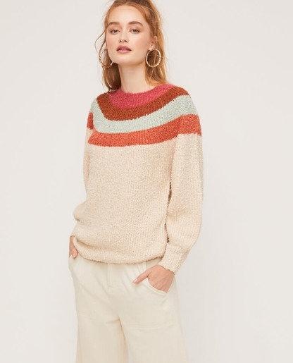 multi color crew neck sweater