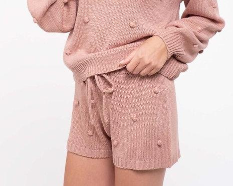pom pom knit shorts