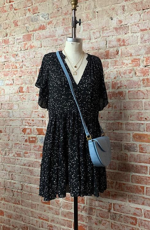 spotted  tier mini dress