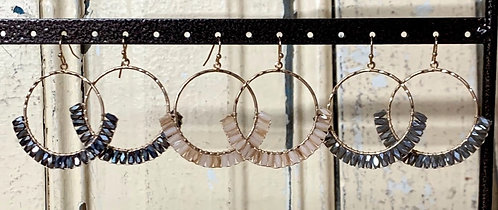 faceted  bead hoops