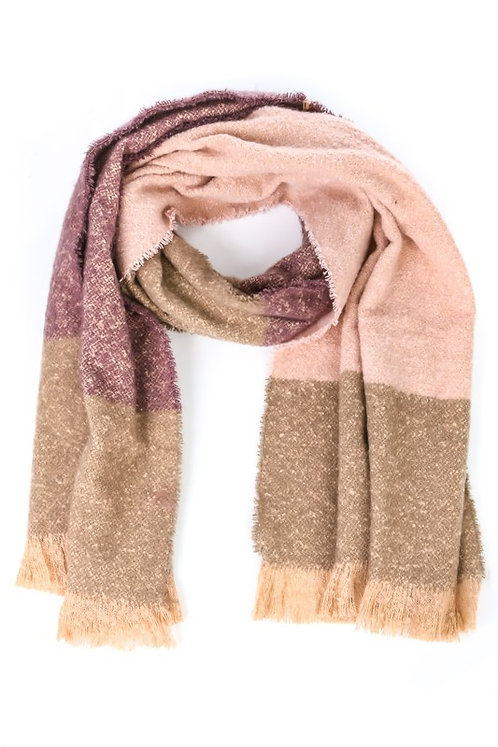 pastel color block oblong scarf