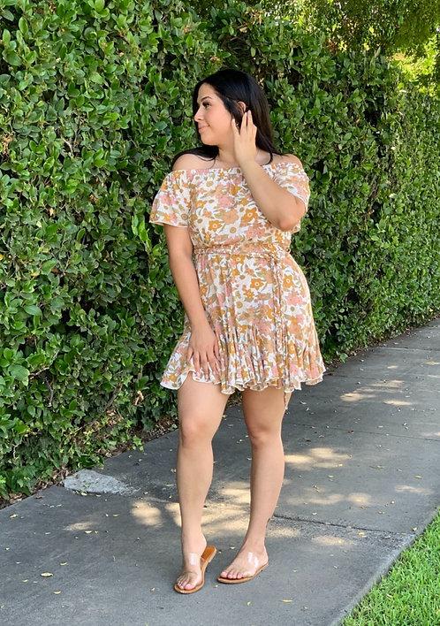 OTS flirty floral mini dress