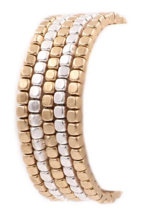 two tone metal bracelet