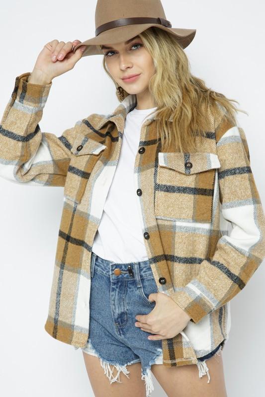 plaid flannel shirt/jacket