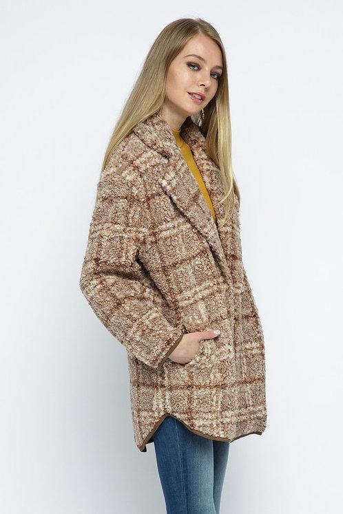 oh-so-cozy sherpa plaid jacket