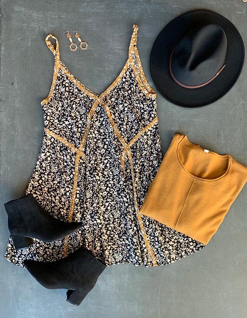 contrast slip mini dress
