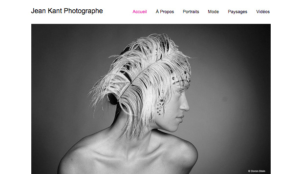 Photographie website templates – Photographe Épuré