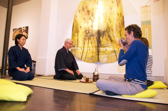 Cérémonie du thé japonaise guidée par Maître Soki