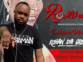 Rohan da Great interviewed on Jamaica's Roses FM!