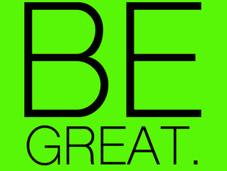 "Check out the: ""Be Great."" Artistic Leadership Program!!!"