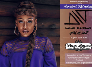 Just announced! Nailah Blackman and Rohan da Great live in Raleigh, NC