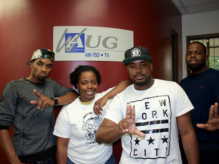 "L.A.R visits WAUG's Radio show ""All In Ya Ear"""