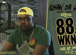 Rohan da Great live interview on WKNC 88.1 FM's Local Lunch.
