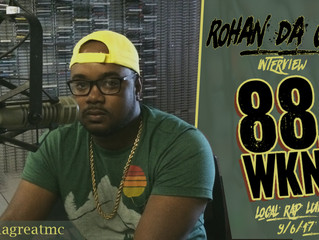 Rohan da Great live interview on WKNC 88.1 FM's Local Lunch.