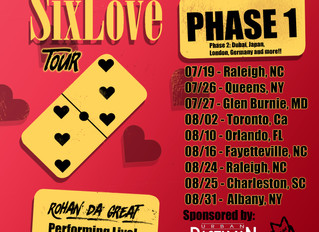 Rohan da Great releases Phase 1 of his #SixLoveTour dates.