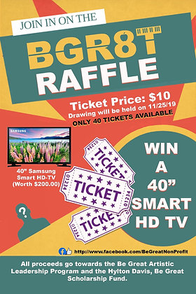 Be Great Raffle Ticket