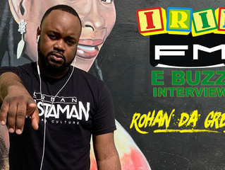 Rohan da Great to be interviewed on Jamaica's #1 station Irie FM