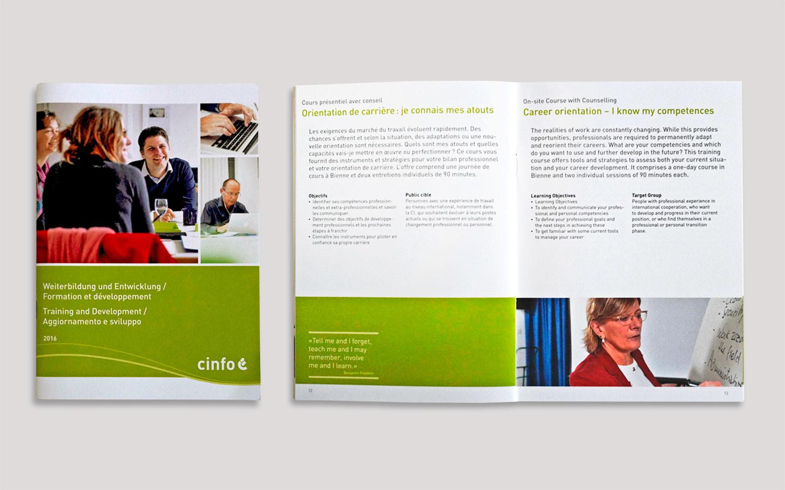 Broschüre Weiterbildung 16 Seiten