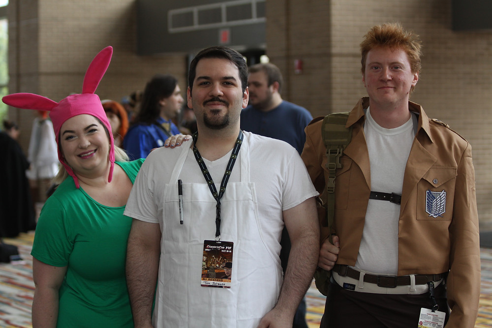 Bob and Louise Belcher.....and Attack on Titan soldier