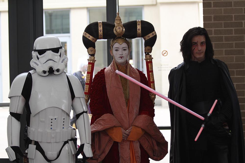 Three generations of Star Wars notables