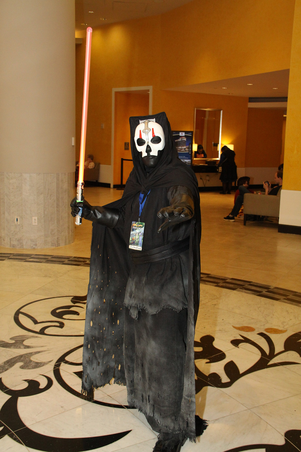 Darth Nihilus (Kotor 2).  He's just a man under that mask.