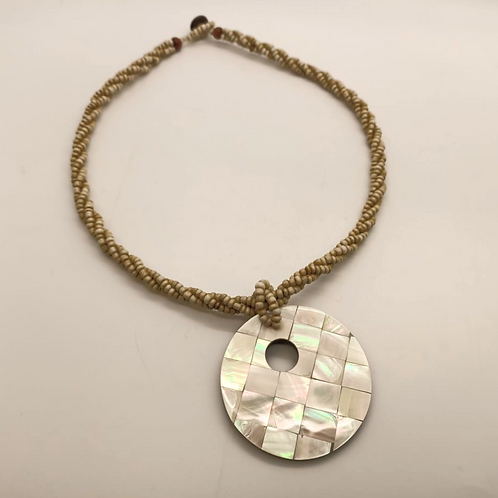 Mosaic Donut Necklace