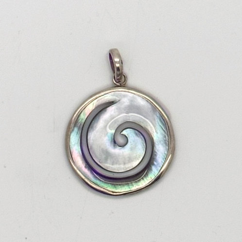 Mother of Pearl Spiral Pendant 1