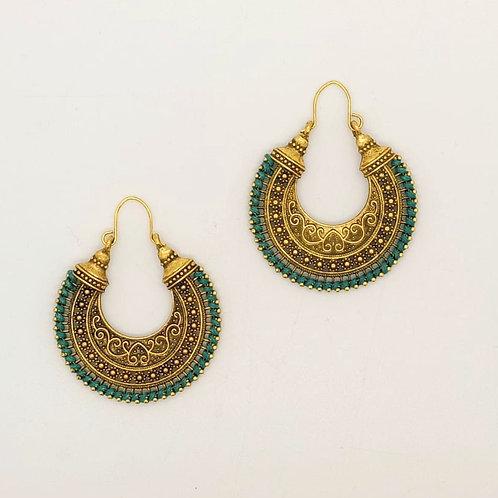 Aztec Heart Earrings