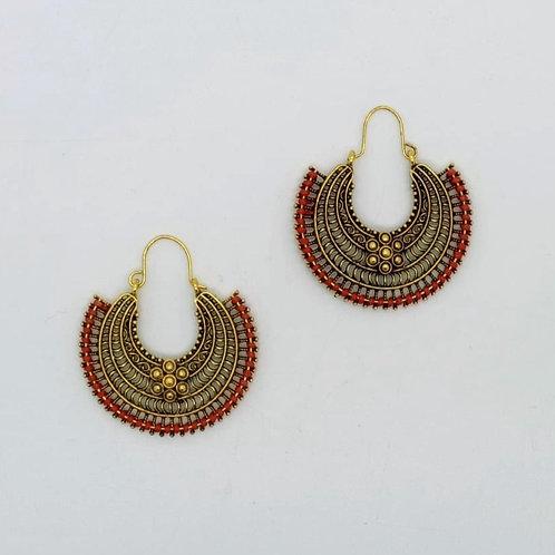 Aztec Flower Earrings