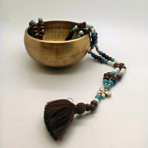 Wooden Bead Butterfly Necklace