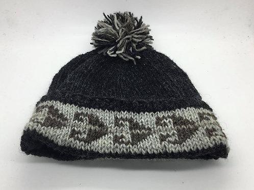 Aztec Wool Pompom Hat