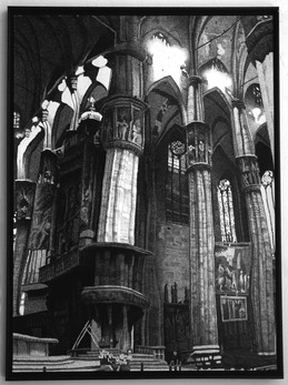 Hand Printed Duomo. .