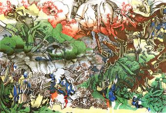 Sans titre - Dürer / Hokusai colliding