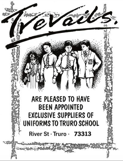 Trevails schoolwear advert
